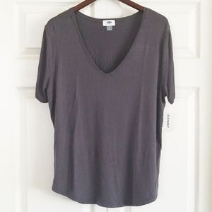 NWT Gray v-neck Old Navy Top